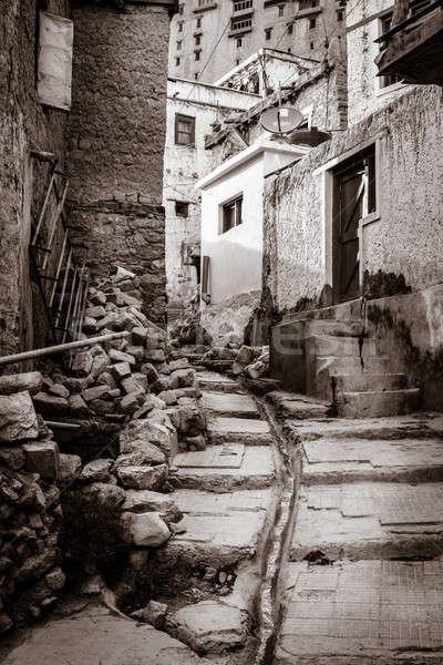 Residential street in Leh, India Stock photo © alexeys