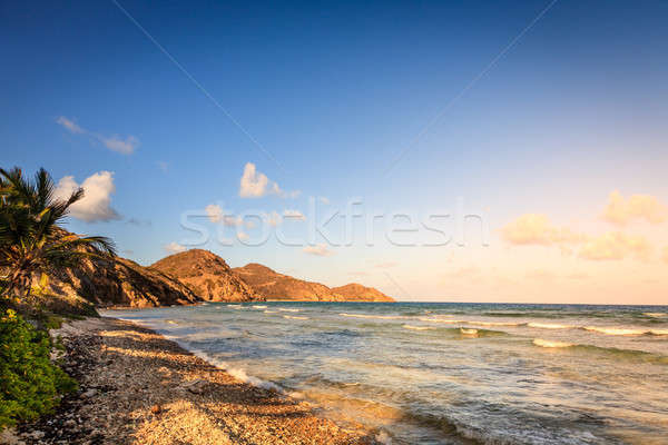 Spiaggia scena britannico Virgin Islands sera vuota Foto d'archivio © alexeys