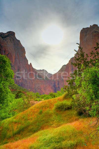 Zion sunset Stock photo © alexeys