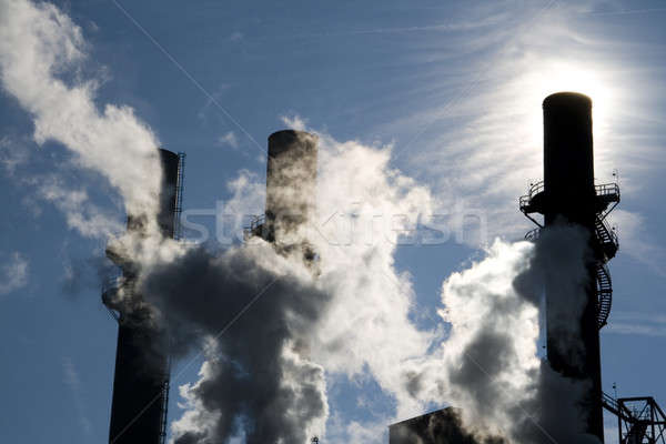 дым пар электростанция синий промышленности Сток-фото © alexeys