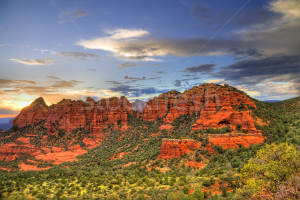 Red Rocks sunset Stock photo © alexeys