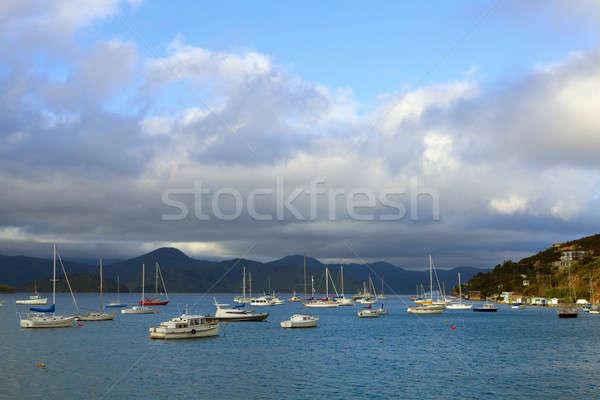 Moored boats  Stock photo © alexeys