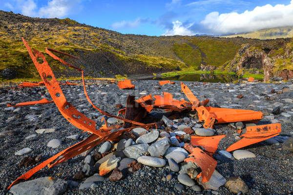 Gemi enkazı kırk plaj yarımada batı İzlanda Stok fotoğraf © alexeys