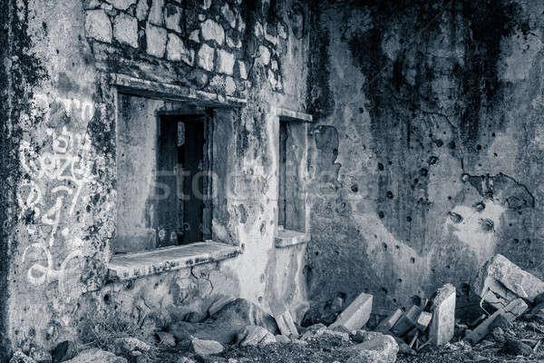 税関 建物 破壊された 現代 遺跡 ストックフォト © alexeys
