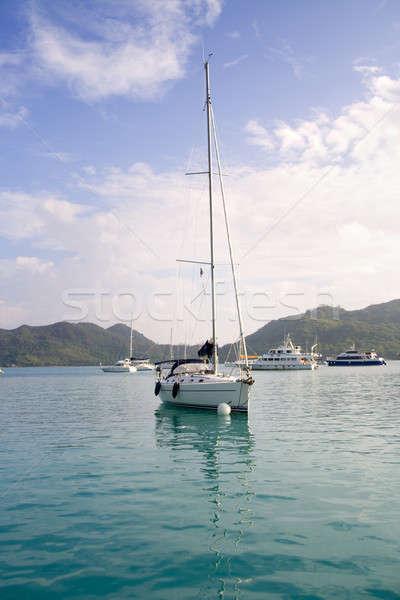 Moored sailboat Stock photo © alexeys