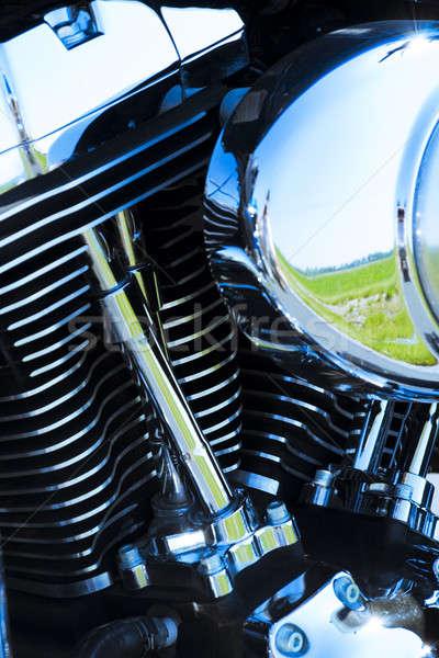 Motocicleta motor detalles primer plano tiro poder Foto stock © alexeys
