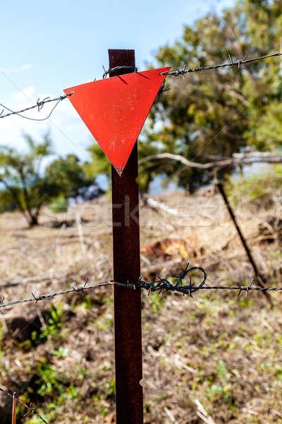 Mine campo segno militari terra Foto d'archivio © alexeys