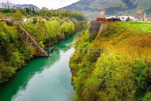 Bridge in Jablanica, Bosnia Stock photo © alexeys