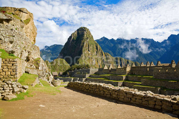 Houses of Machu Picchu Stock photo © alexeys