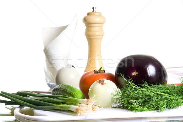 Sałatka pomidorów gotowania świeże posiłek Zdjęcia stock © alexeys