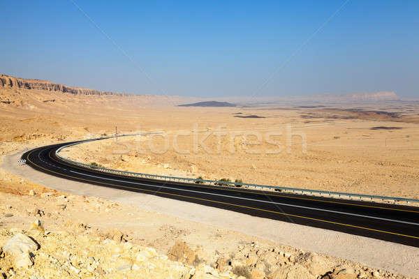 пустыне шоссе дороги кратер Израиль небе Сток-фото © alexeys