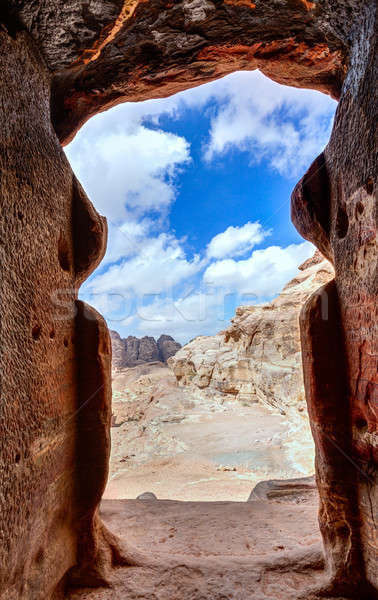 Tomb in Petra Stock photo © alexeys