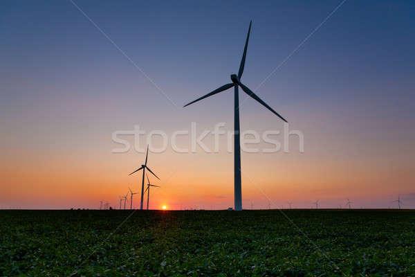 Zdjęcia stock: Dziedzinie · wygaśnięcia · krajobraz · technologii · zielone