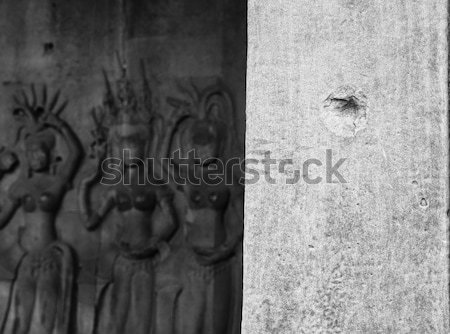 Bullet hole at Angkor Wat Stock photo © alexeys