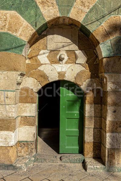 Deuropening straat muur steen architectuur Stockfoto © alexeys