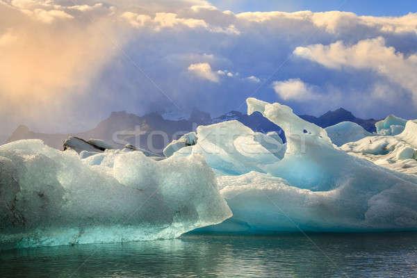 Lebeg déli part Izland tájkép gyönyörű Stock fotó © alexeys