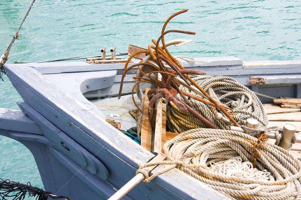 漁船 ツール 貿易 弓 ロープ 水 ストックフォト © alexeys