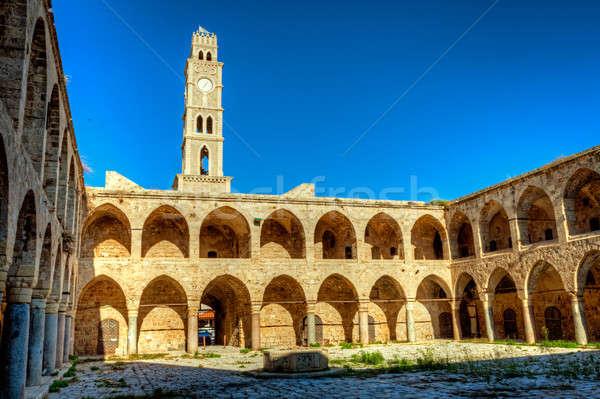 Akko landmark - Han El-Umdan Stock photo © alexeys