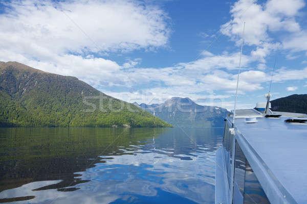 Stock foto: Fjord · Boot · Tour · zweifelhaft · Sound