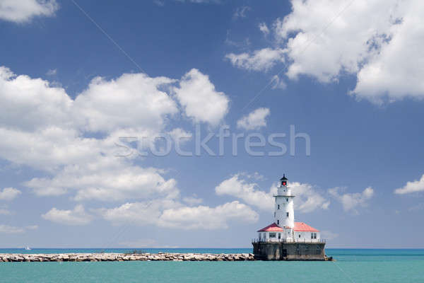 Chicago phare lac Michigan ciel bleu Photo stock © alexeys