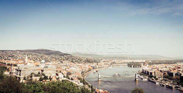 Budapeszt dunaj rzeki piękna widoku historyczny Zdjęcia stock © alexeys