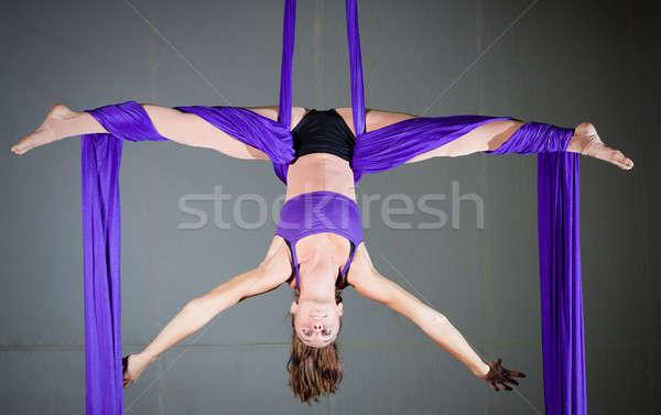 гимнаст красивая женщина антенна спорт фитнес Сток-фото © alexeys