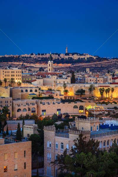 Akşam Kudüs görmek gözlem güverte gökyüzü Stok fotoğraf © alexeys