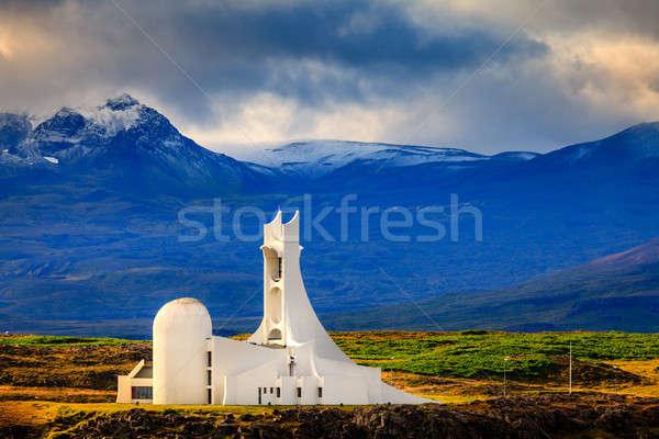 Modern church Stock photo © alexeys