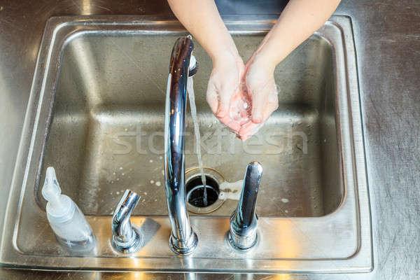 Washing hands Stock photo © alexeys