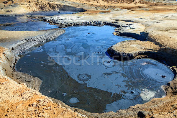 Boiling mud pool Stock photo © alexeys