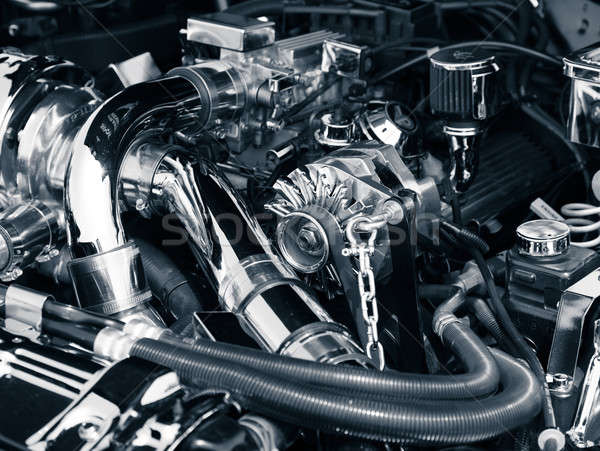 Auto motor afbeelding klassiek muscle car Stockfoto © alexeys