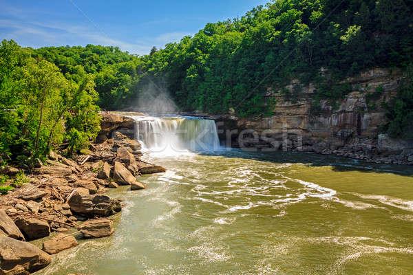 Stockfoto: Schilderachtig · zuidelijk · Kentucky · voorjaar · water