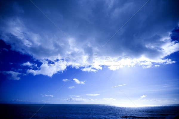 Słońce wody widoku otwarte ocean za Zdjęcia stock © alexeys