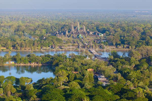 Aerial view of Angkor Wat Stock photo © alexeys