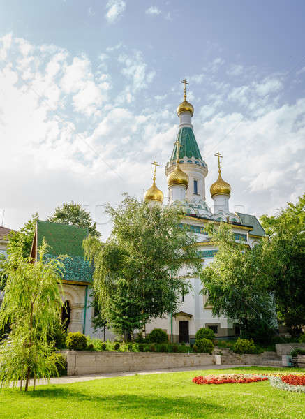 Ruso iglesia Sofía Bulgaria ciudad centro Foto stock © alexeys