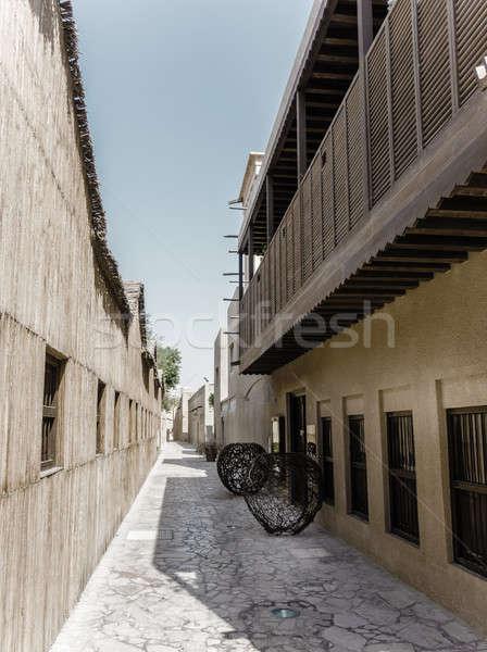Historyczny sąsiedztwo ulic starówka niebo ulicy Zdjęcia stock © alexeys