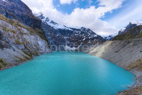 Alpine lac image rivière Nouvelle-Zélande ciel Photo stock © alexeys