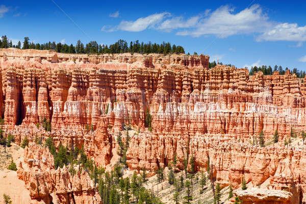 Kanyon kilátás Utah mutat egyedi kő Stock fotó © alexeys