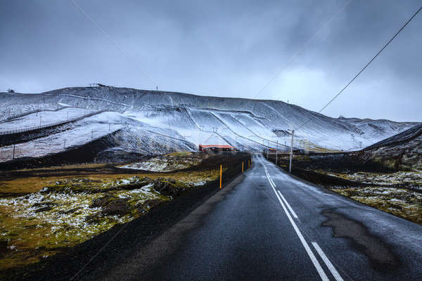 Ski resort in Iceland Stock photo © alexeys
