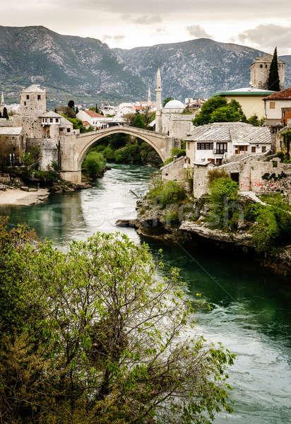 City of Mostar and Neretva River Stock photo © alexeys