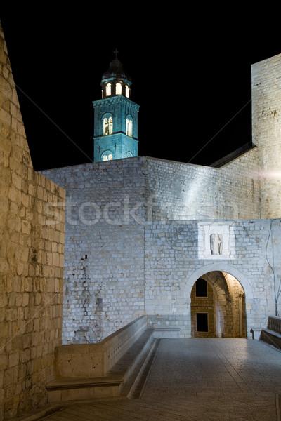 Dubrovnik noite vazio ruas velho cidade Foto stock © alexeys
