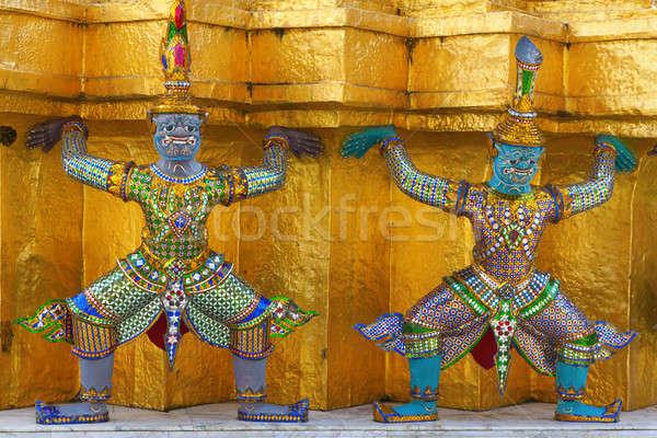 Efsanevi iblis tapınak kral saray Bangkok Stok fotoğraf © alexeys