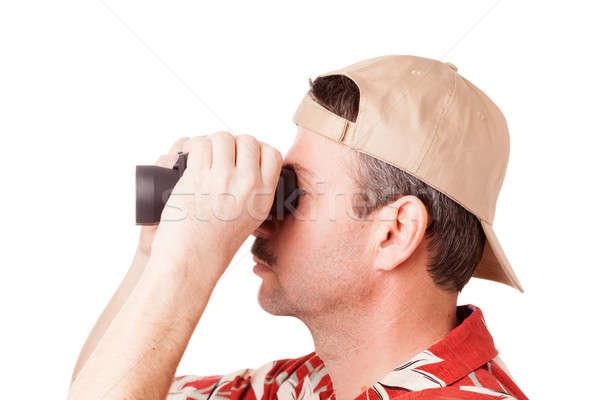 Looking through binoculars Stock photo © alexeys