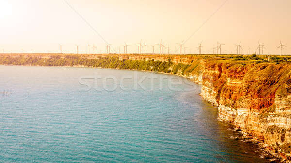 Wind power in Bulgaria Stock photo © alexeys