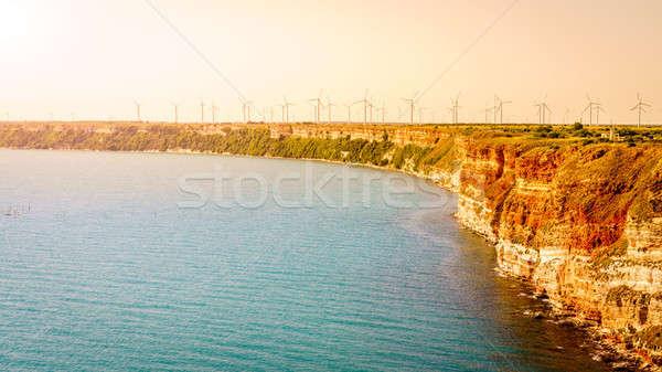 Wind macht Bulgarije veld water Stockfoto © alexeys