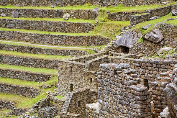 Machu Picchu ruines oude inca stad Peru Stockfoto © alexeys