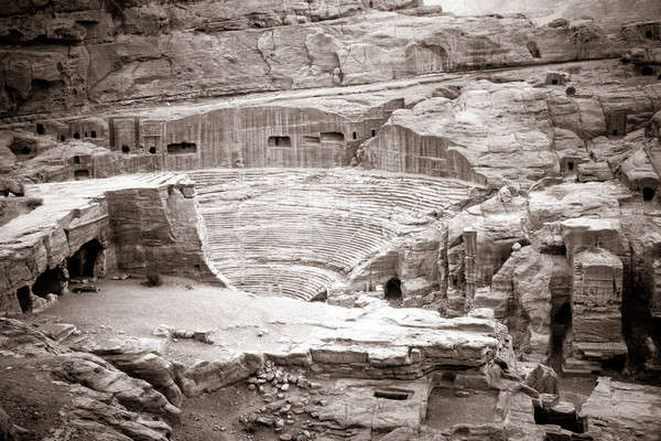 Amphitheater in Petra Stock photo © alexeys