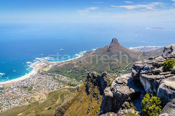 Tête montagne Le Cap vue table Afrique du Sud Photo stock © alexeys
