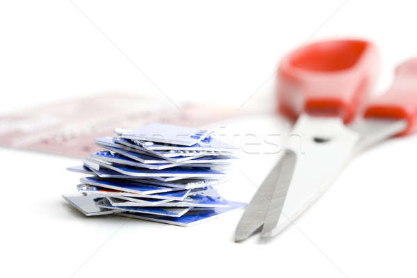Destroy old credit cards Stock photo © alexeys