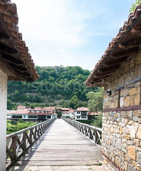 Híd folyó láb város kő építészet Stock fotó © alexeys
